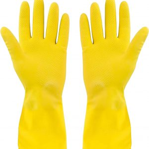 Yellow Cleaning Hand Gloves